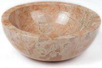 Umývadlo z prírodného kameňa Gemma 501 leštený mramor Ø 45 cm Yellow