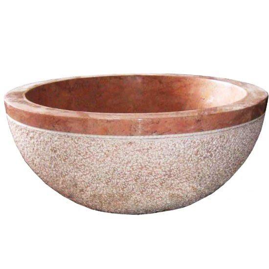 Umývadlo z prírodného kameňa Gemma 516 Ø45 cm Yellow