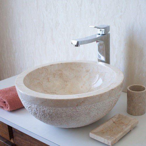 Umývadlo z prírodného kameňa Gemma 516 Ø45 cm Cream