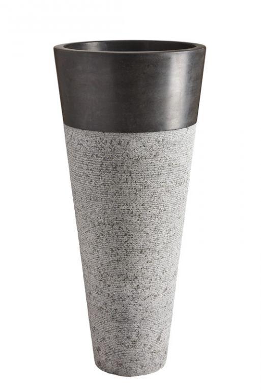 Voľne stojace kamenné umývadlo Pedestal Hammered Black