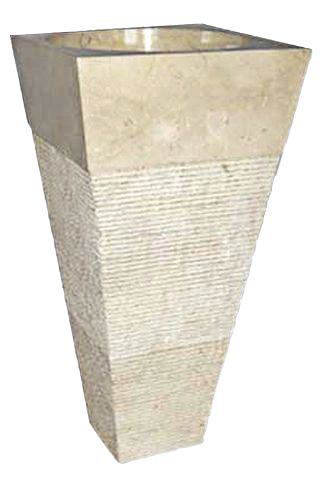 Voľne stojace kamenné umývadlo Pedestal IDS 141 Cream