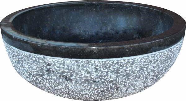Umývadlo z prírodného kameňa Gemma 516 Ø45 cm Black