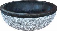 Umývadlo z prírodného kameňa Gemma 516 Ø 45 cm Black