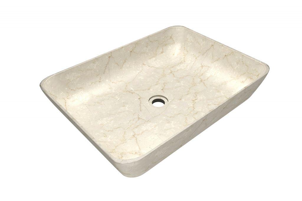 Umývadlo z prírodného kameňa Satis Cream