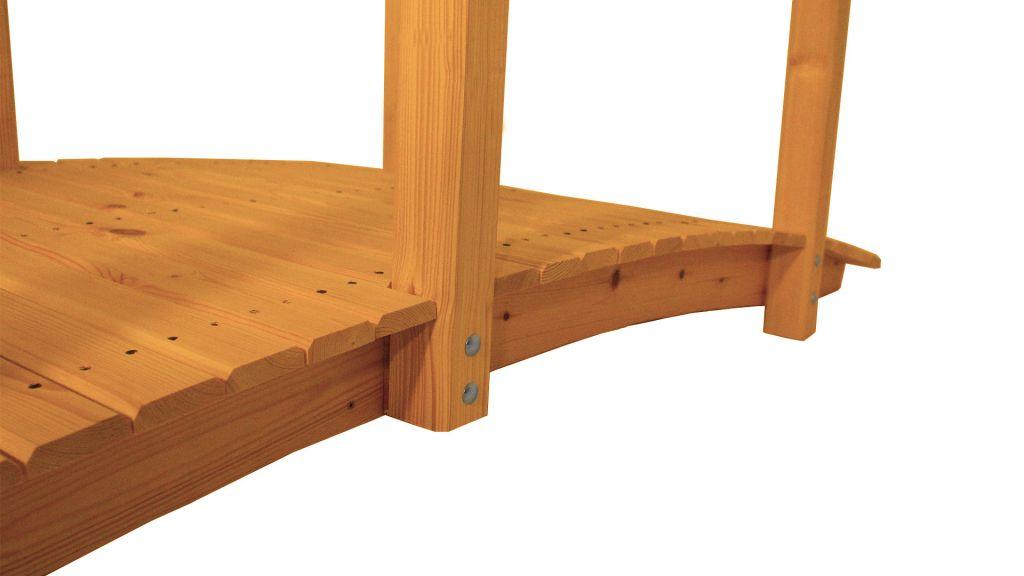 Záhradný drevený most s povrchovou úpravou - 248 cm