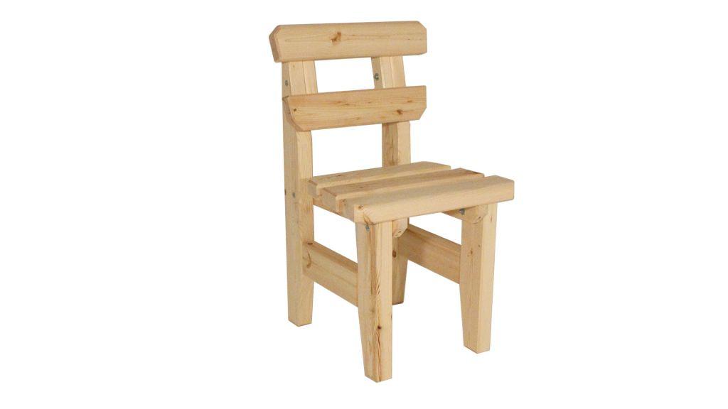 Záhradná drevená stolička Eduard - bez povrchovej úpravy