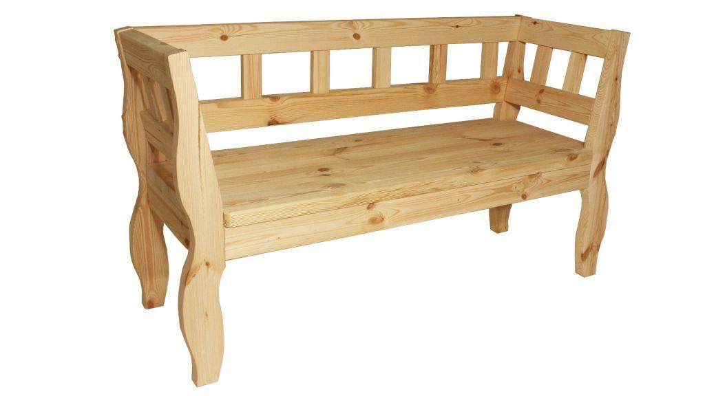 Záhradná RETRO lavica bez povrchovej úpravy - 157 cm