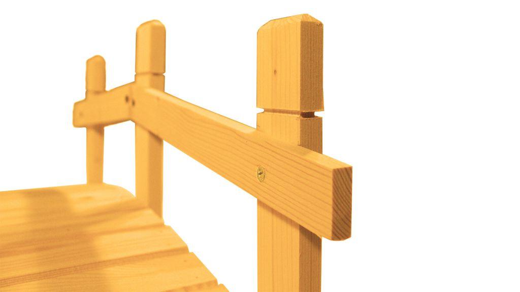 Záhradný drevený mostík - 71 cm - TEAK