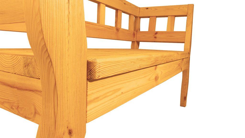 Záhradná RETRO lavica s povrchovou úpravou 157 cm - BOROVICA