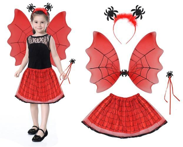 Kostým čarodejnica - červená