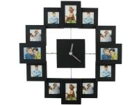 Nástenné hodiny s fotorámčekmi