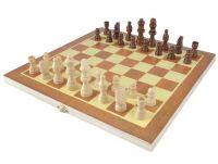 Drevený šach v kazete