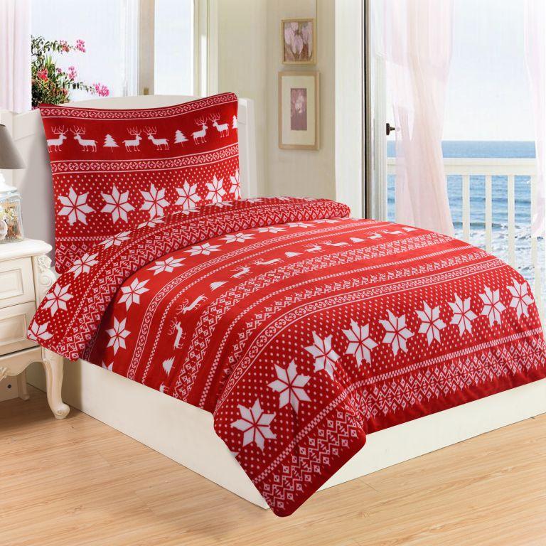 Mikroplyšové obliečky WINTER RED