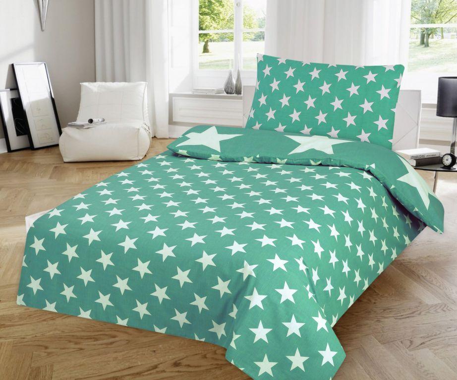 Obliečky Hviezdy - mint