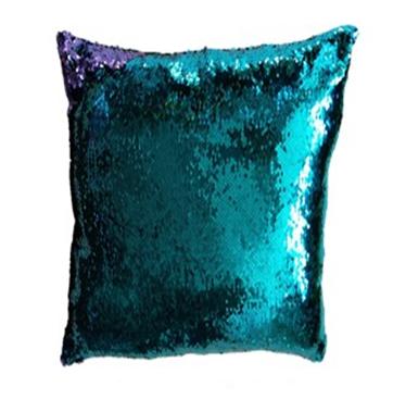 Povlak na vankúš s flitrami MAGIC 40 x 40 cm - tyrkys/fialov