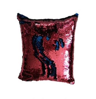 Povlak na vankúš s flitrami MAGIC 40 x 40 cm -ružová/ modrá