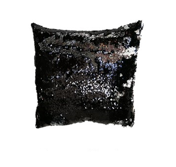 Povlak na vankúš s flitrami MAGIC 40 x 40 cm - čierna/stireb