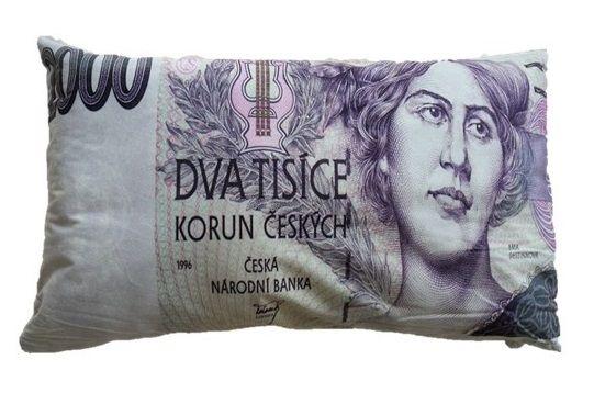 Dekoračný vankúš bankovka - 2000 Sk