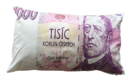 Dekoračný vankúš bankovka - 1000 Sk