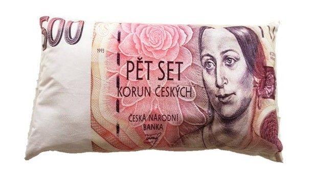 Dekoračný vankúš bankovka - 500 Sk