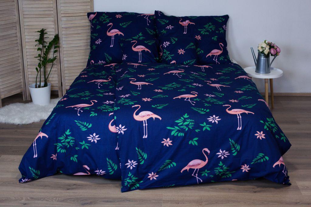 Bavlnené posteľné obliečky 3-dielne Dita - Flamingo