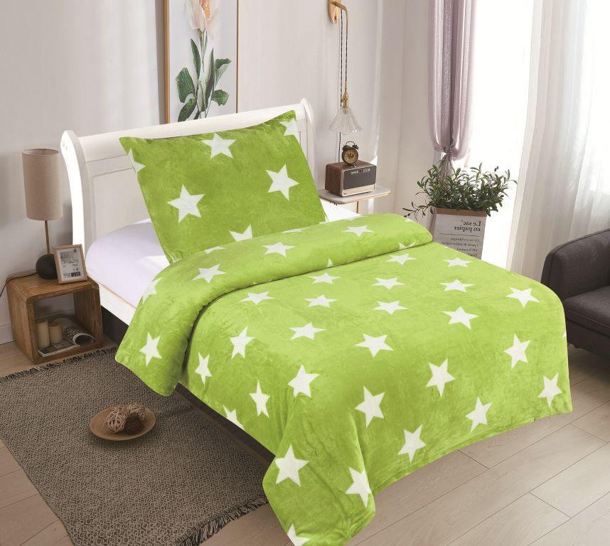 Posteľné obliečky MICRO - Stars limeta