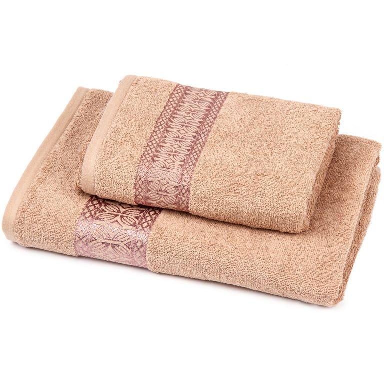 Set osuška + uterák Florina - hnedá