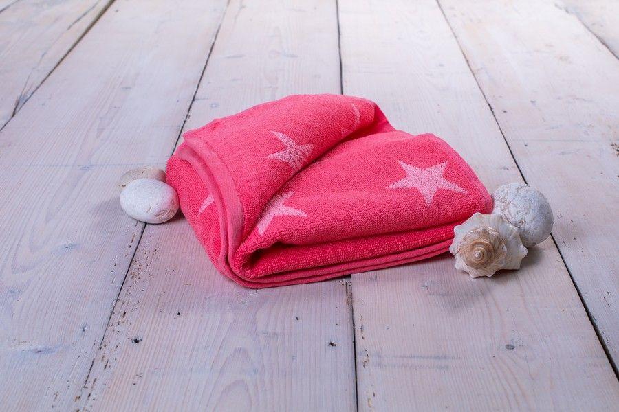 Osuška Stars - 70 x 140 cm, ružová
