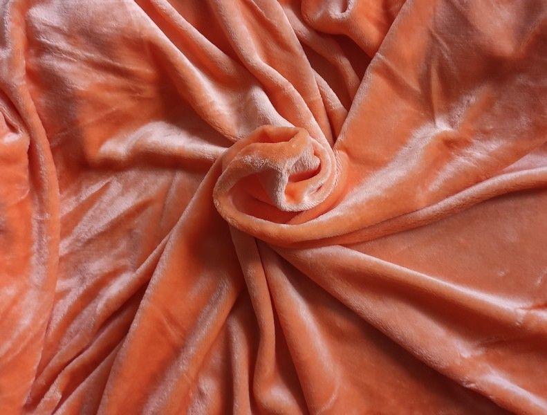 Mikroplyšová plachta 180 x 200 cm - oranžová