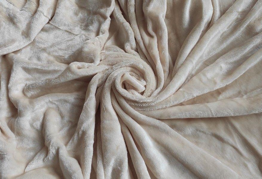 Mikroplyšová plachta 180 x 200 cm - béžová