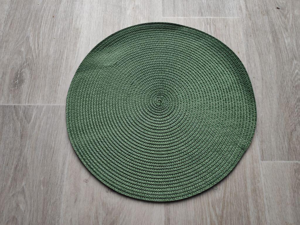 Prestieranie okrúhle 35 cm - tmavozelené