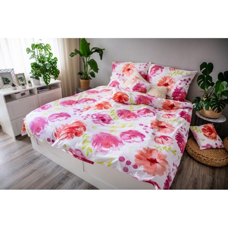 Posteľné obliečky DITA, Flores pink
