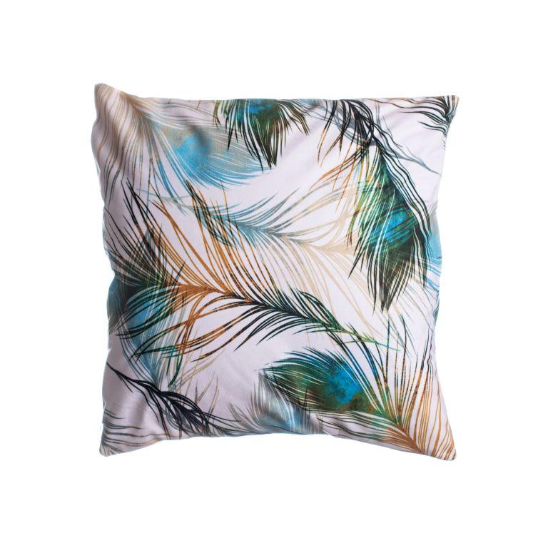 Povlak na vankúš Pierka / páv kolekcia č. 2, 45 x 45 cm