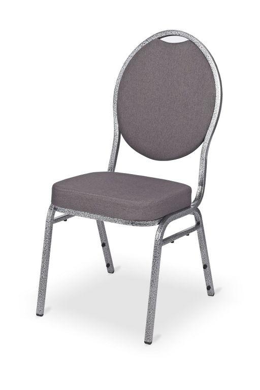 Kongresová stolička kovová MONZA DELUXE - sivá