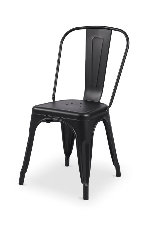 Bistro stolička Paris inšpirovaná TOLIX - čierna