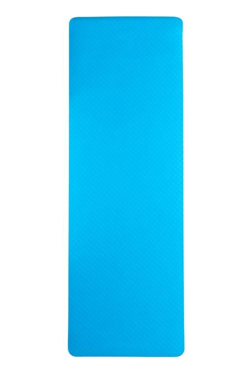 Dvojvrstvová podložka na jógu 183 x 61 x 0,4 cm - MODRÁ