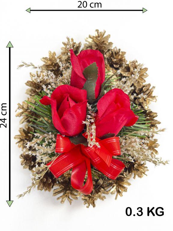 Smútočná kvetina v tvare srdca, malá, červená