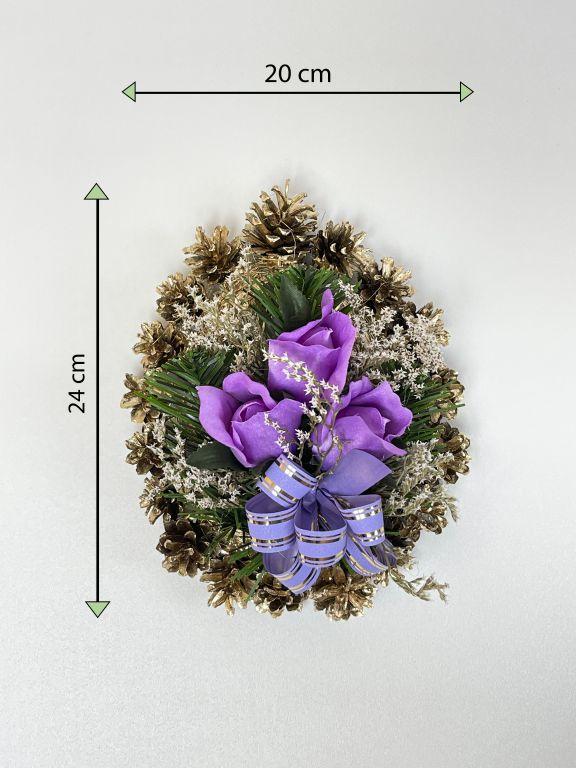 Smútočná kvetina v tvare srdca, malá, fialová