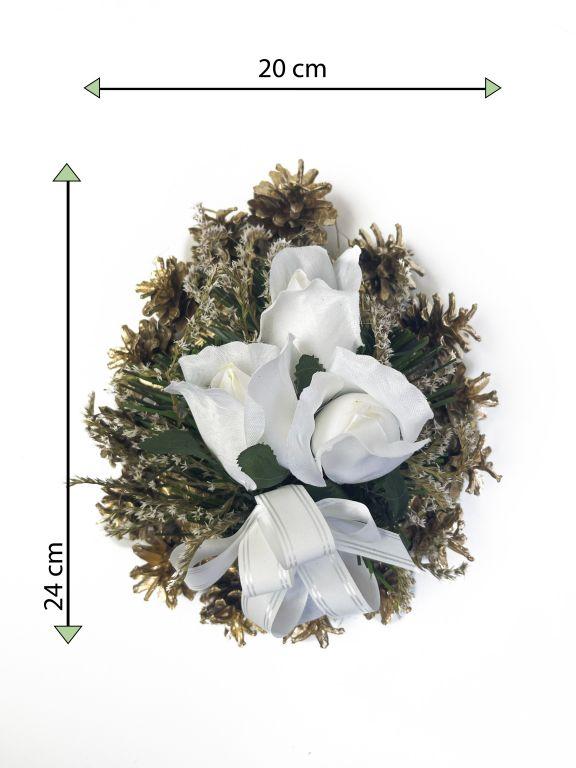 Smútočná kvetina v tvare srdca, malá, biela