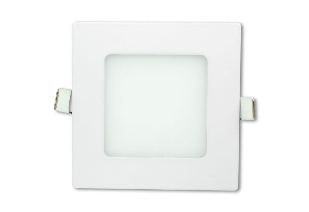 LED stropný panel štvorcový 6 W, studená biela