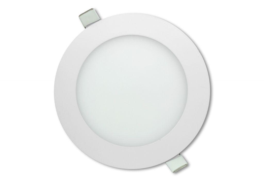 LED stropný panel guľatý 12 W, neutrálna biela