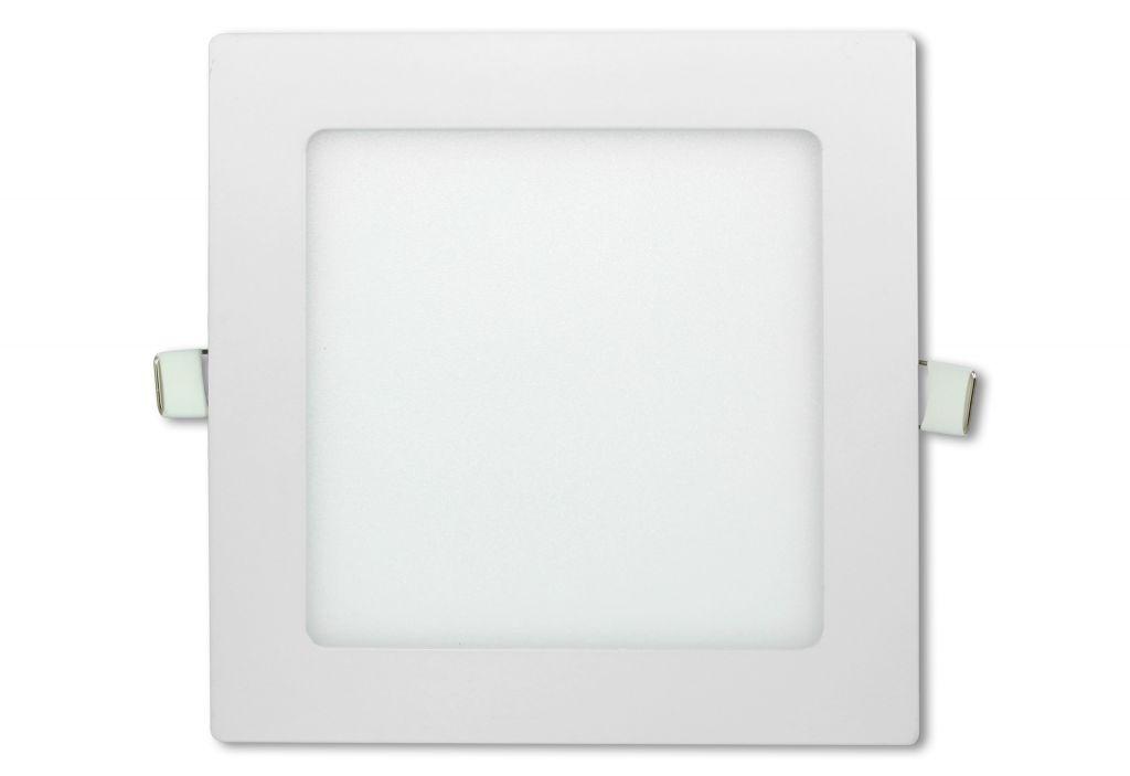 LED stropný panel štvorcový 12 W, studená biela
