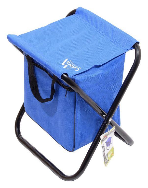Kempingová skladacia stolička MALAGA - modrá