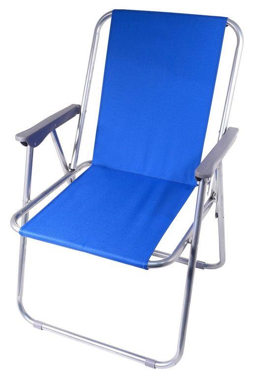 Kempingová skladacia stolička BERN  modrá