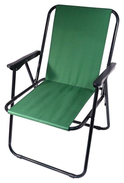 Kempingová skladacia stolička BERN - zelená