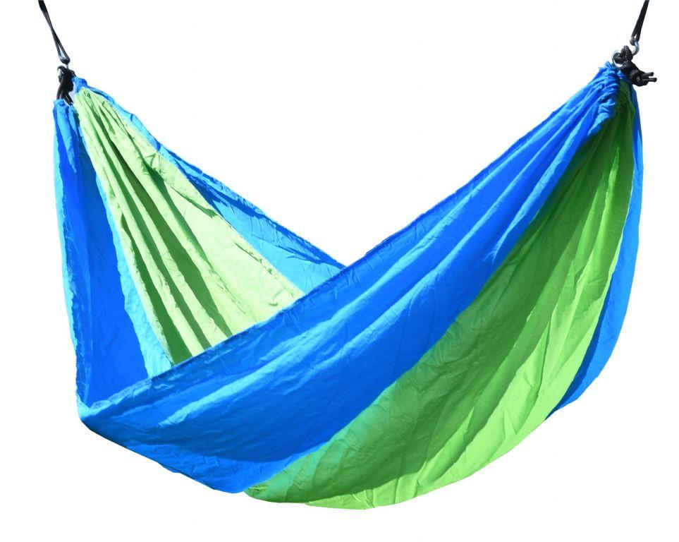 Hojdacia sieť NYLON 275 x 137 cm zeleno-modrá