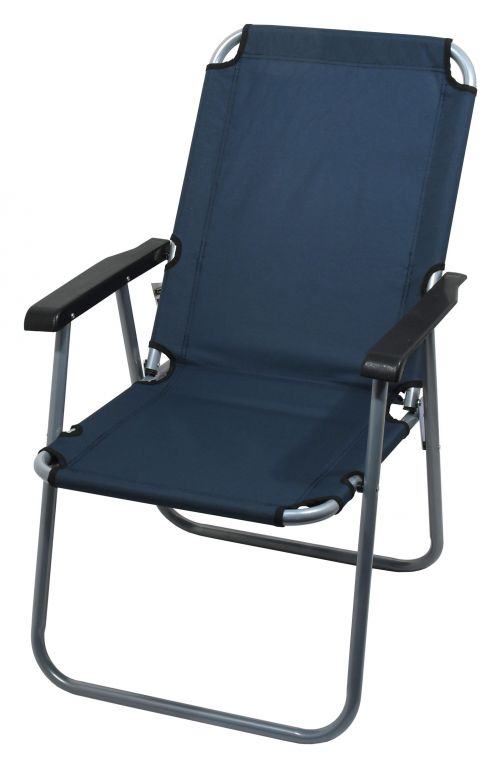 Kempingová skladacia stolička LYON - tmavomodrá