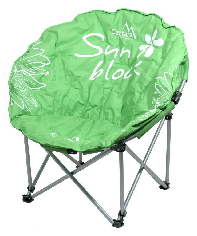 Kempingová skladacia stolička FLOWERS - zelená