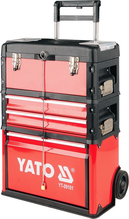 Vozík na náradie - 3 sekcia, 2 zásuvky
