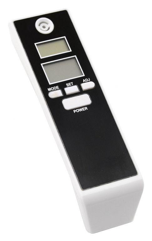 Digitálny dychový alkohol tester - čierny/biely